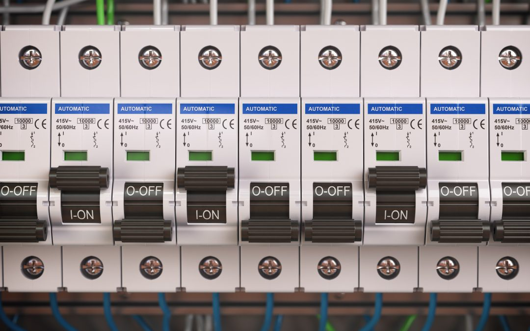 Electric switches in fusebox circuit brakers